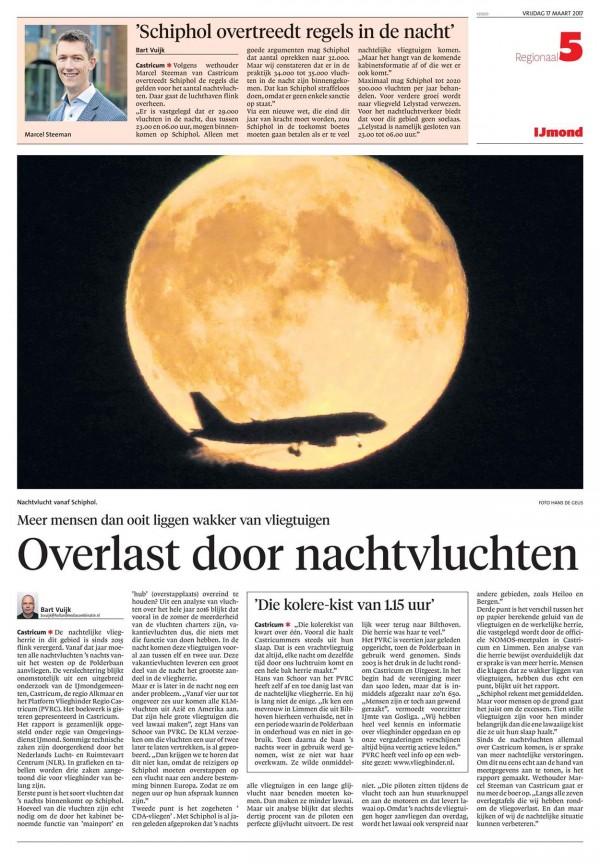 Overlast door Nachtvluchten - Schiphol overtreedt regels in de nacht
