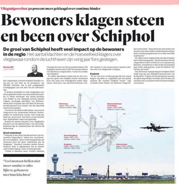 Bewoners klagen steen en been over Schiphol