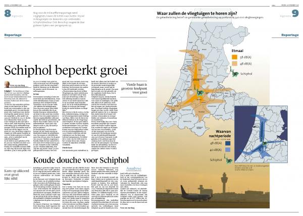 Schiphol beperkt groei.