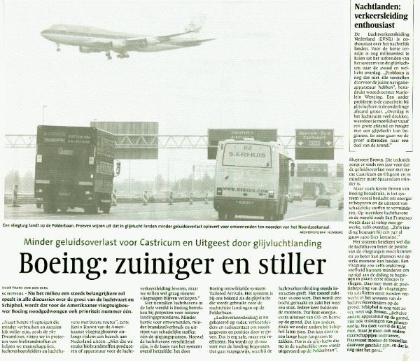 Boeing: zuiniger en stiller