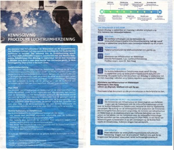 UPDATE  - Kennisgeving procedure luchtruimherziening