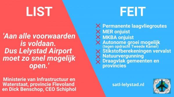 Lelystad Airport: List versus feiten