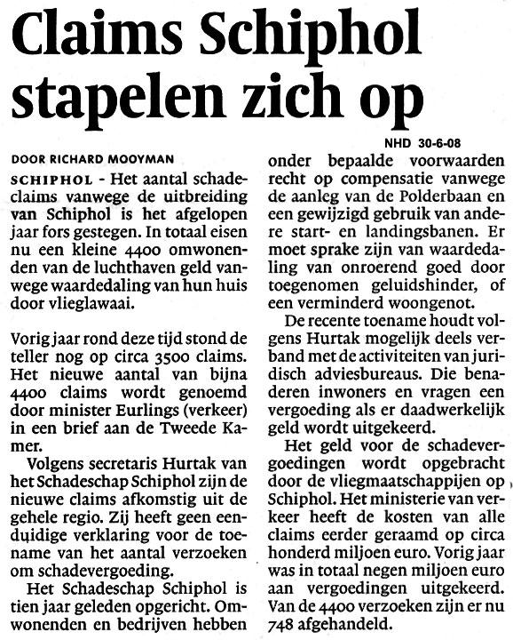 Claims Schiphol stapelen zich op