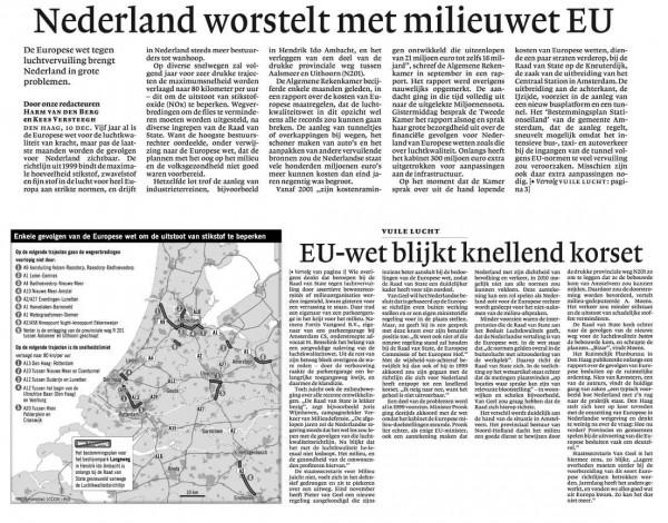Nederland worstelt met mileuwet EU