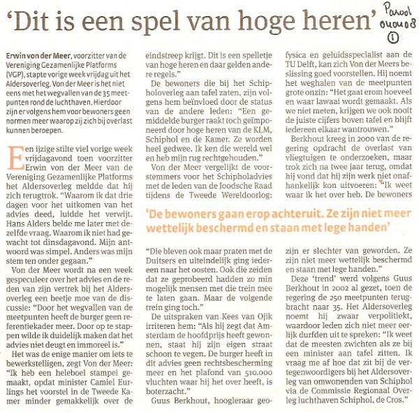 Erwin van der Meer, voorzitter Vereniging Gezamelijke Platforms (VGP)