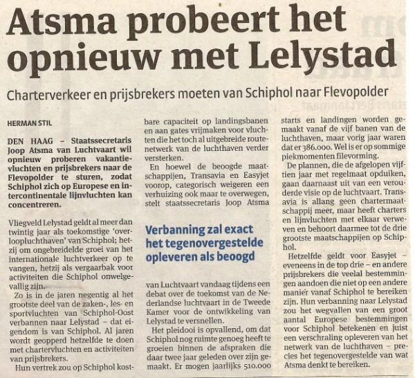Atsma probeert het opnieuw met Lelystad