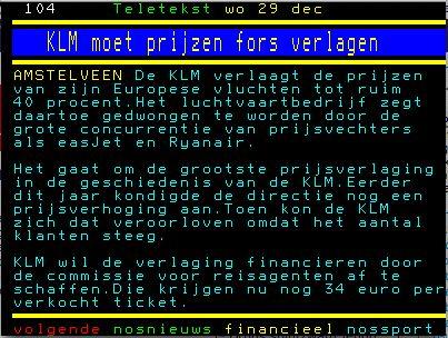 KLM moet prijzen fors verlagen
