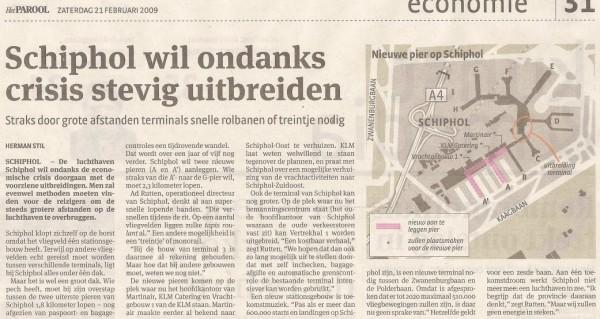 Schiphol wil ondanks crisis stevig uitbreiden