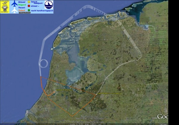 Testvlucht vulkaanstof zojuist afgerond (met gevlogen route)