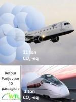 Meer reizigers van lucht naar spoor